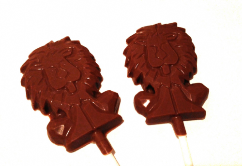 Chocolate Lion Lolly